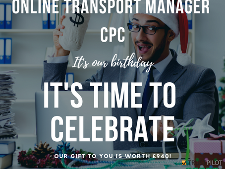 Transport Manager CPC celebrates it's 1st Birthday!