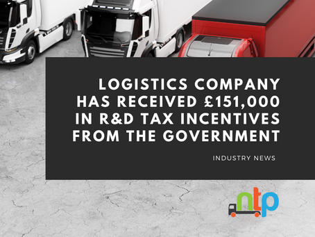 Haulage specialist collects £151k in R&D tax incentives
