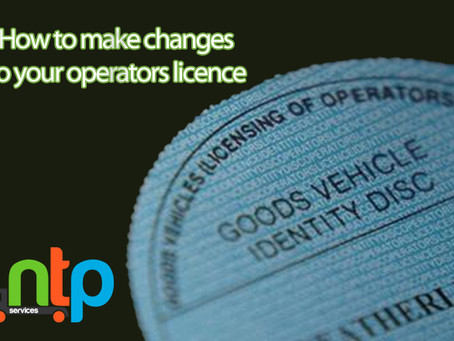 How to make changes to your operator licence