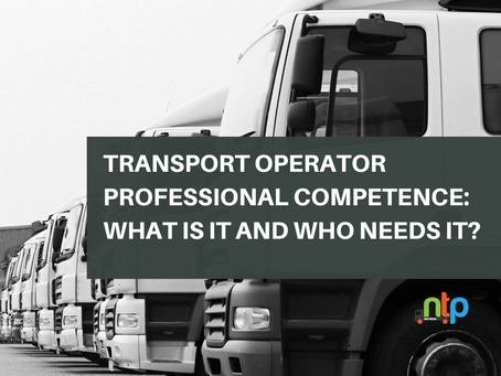 Transport Operator Professional Competence: What is it and who needs it?