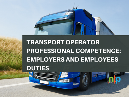 Transport Operator Professional Competence: Employers and Employees Duties