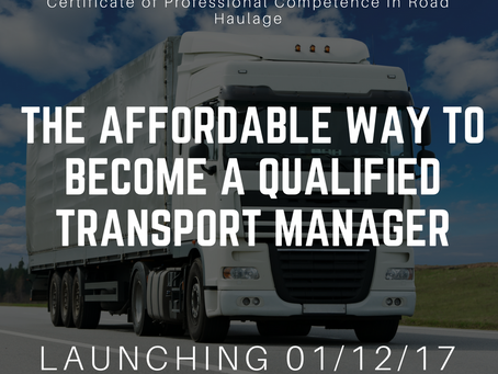 The affordable way to become a fully qualified Transport Manager