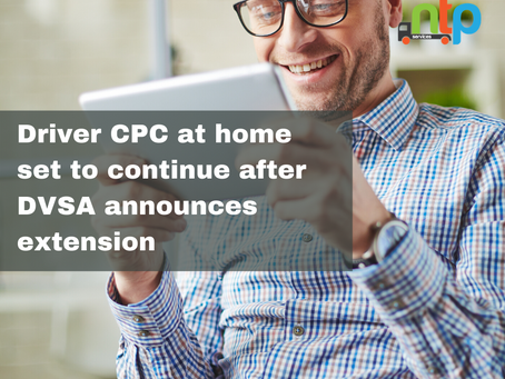 You CAN continue to complete Driver CPC training at home.
