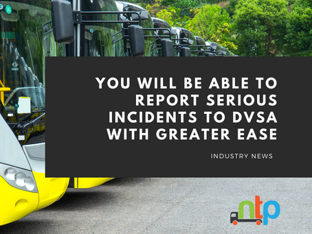 DVSA releases a new serious incident reporting system for bus and coach operators