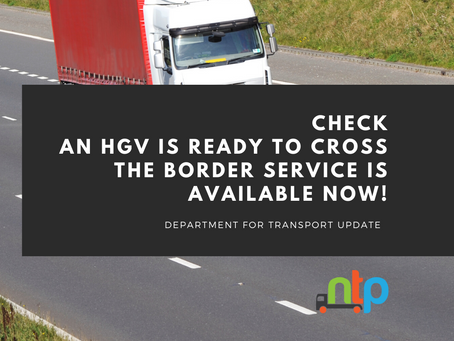 Hauliers and drivers are now able to log on to the Check an HGV is Ready to Cross the Border