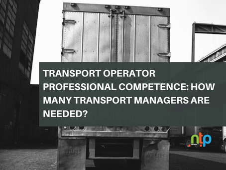 Transport Operator Professional Competence: How Many Transport Managers are Needed?