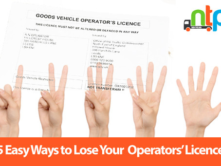 5 Easy Ways to Lose Your Operators' Licence