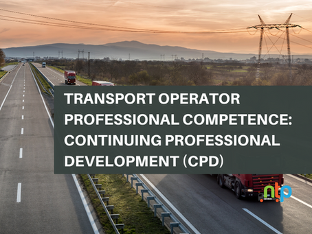 Transport Operator Professional Competence: Continuing Professional Development (CPD)
