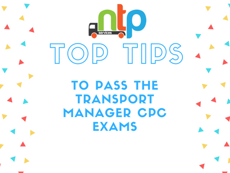 Transport Manager – Top Tips to help you PASS!