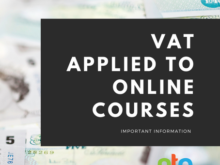Important notice: VAT on Online Courses