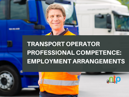 Transport Operator Professional Competence: Employment Arrangements
