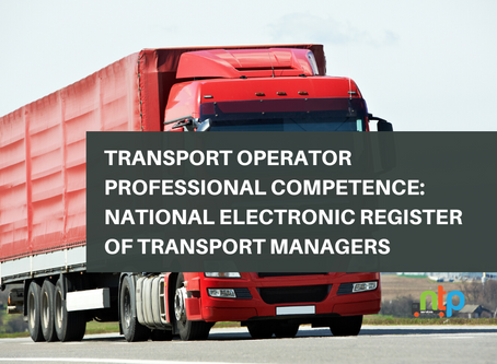 Transport Operator Professional Competence: National Electronic Register of Transport Managers