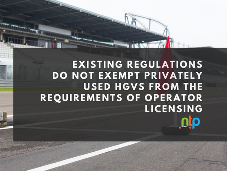 Clarity on operator licencing for Motor racing, horsebox owners and those using HGV's for hobbies