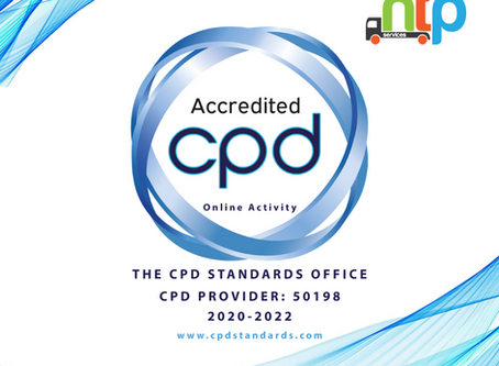 NTP is granted CPD Accreditation for our online courses inc. Transport Manager CPC