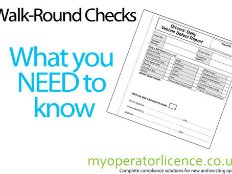 Walk round checks - What you need to know.