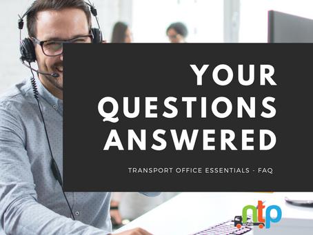 FAQ's - Traffic Office Essentials