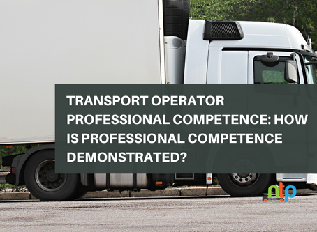 Transport Operator Professional Competence: How is Professional Competence Demonstrated?