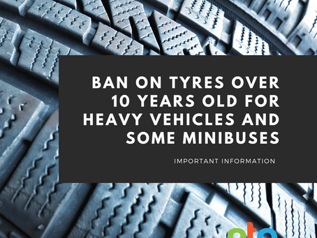 DVSA and Traffic Commissioners BAN tyres over 10 years old for heavy vehicles and *some* minibuses