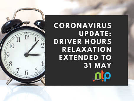 Coronavirus Update: Driver hours relaxation extended to 31 May *New Info on Driver Break Times*