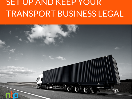 The easy way to set up and keep your transport company legal