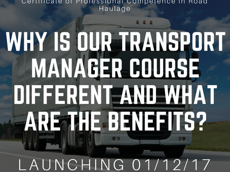 Why is our Transport Manager Course different and what are the benefits?