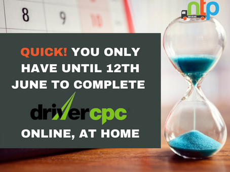 Online Driver CPC to end on 12th June 2020