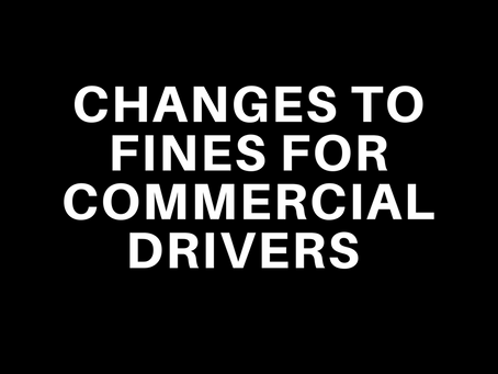 Changes to fines for commercial drivers