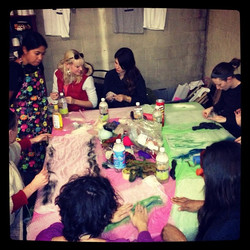 Felting workshop with the wonderful Celeste Malvar-Stewart today! Thank you Celeste! We seriously _3