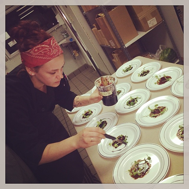 Prepping for #CoutureCuisine!! #DenmarkRestaurant #TheTable #DueAmici #ExplorersClub #afw14 #columbu