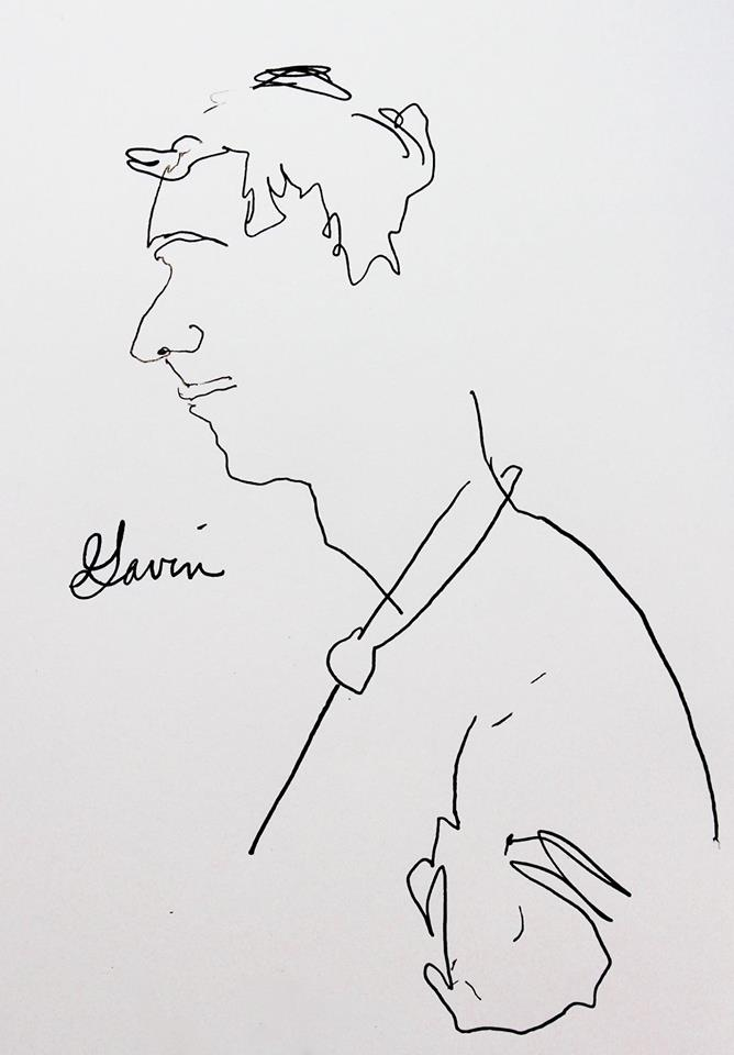 Blind Line Drawing - Elisabeth Blair