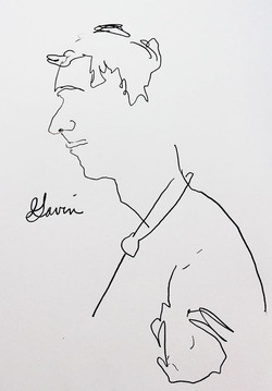 Blind Line Drawing - Elisabeth Blair