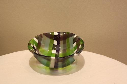 Check pattern bowl small