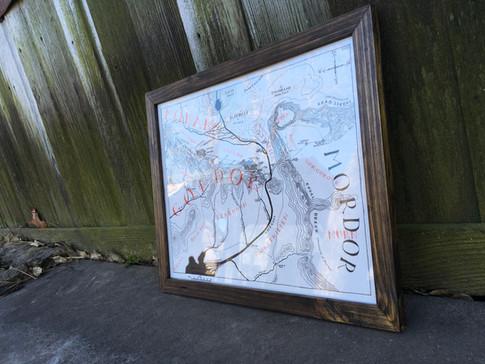 Aged barnwood frame
