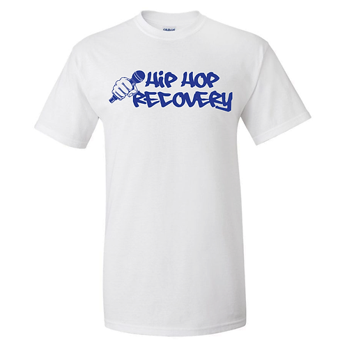 """""""HIP HOP RECOVERY"""" TEE (WHITE/ROYAL BLUE)"""