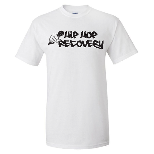 """""""HIP HOP RECOVERY"""" TEE (WHITE/BLACK)"""