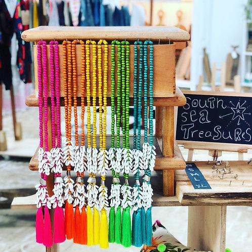 SOUTH SEA TREASURES Rainbow Tassel Necklaces