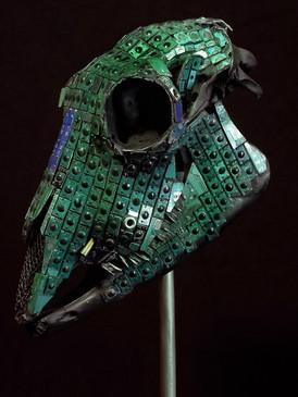 Modern Mayan Sheep Skull