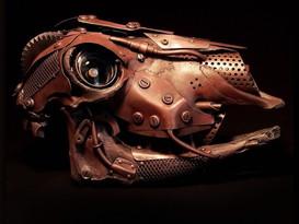 Engine Metal Armoured Sheep Skull
