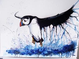 A3 Puffin Watercolour