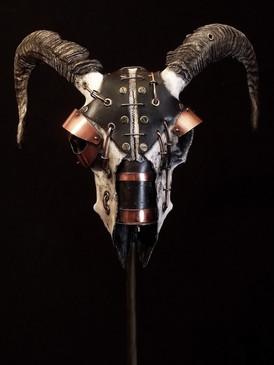 Lens Metal & Copper Sheep Skull 3
