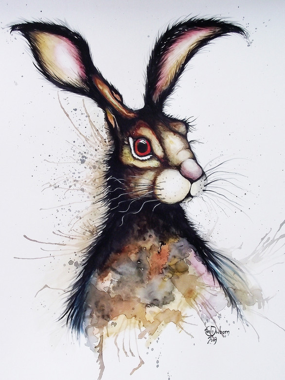 A3 Hare Watercolour
