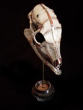 Bound Metal & Paper Deer Skull