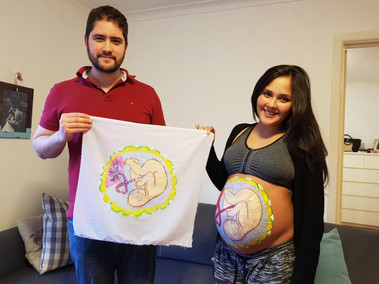 Pedro&Noah&Aline-BellyPainting