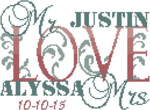 Modern Wedding Cross Stitch Scheme Wedding Record Cross Stitch Pattern