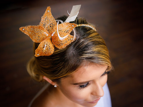 Bronze Lily Headpiece
