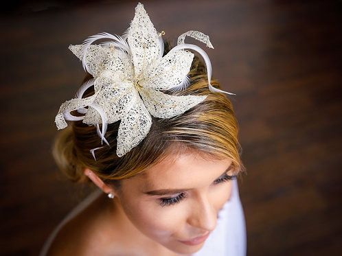Ivory Lily Headpiece