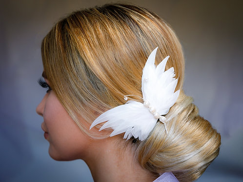 Feather Butterfly Comb