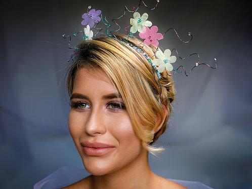 Organza Floral Headpiece
