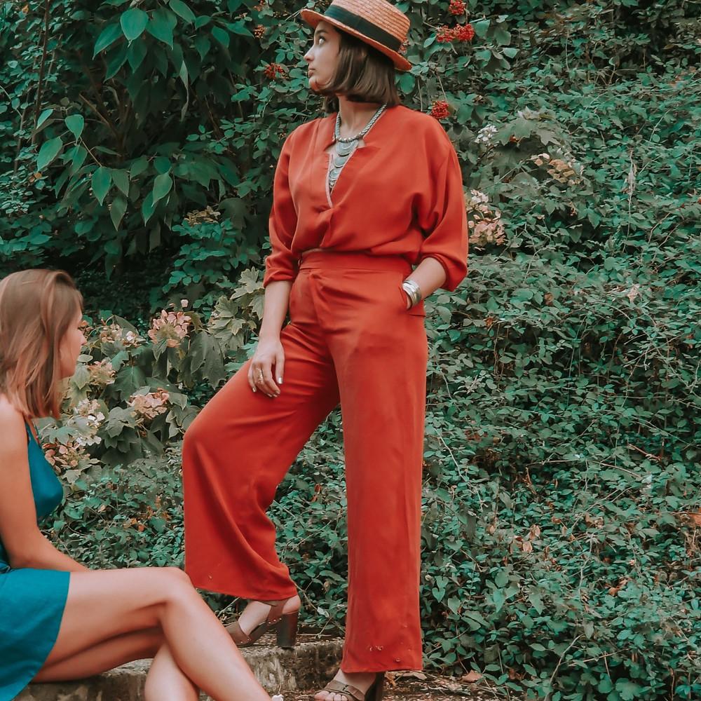 patron couture pantalon cherry blouse whisky