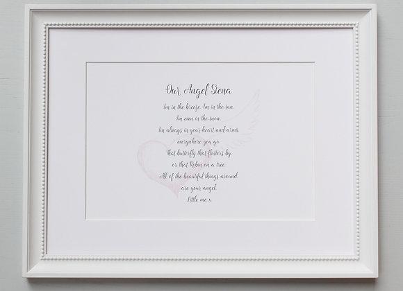 Personalised Angel Poem Print
